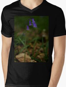 Single Bluebell in Prehen Woods, Derry Mens V-Neck T-Shirt