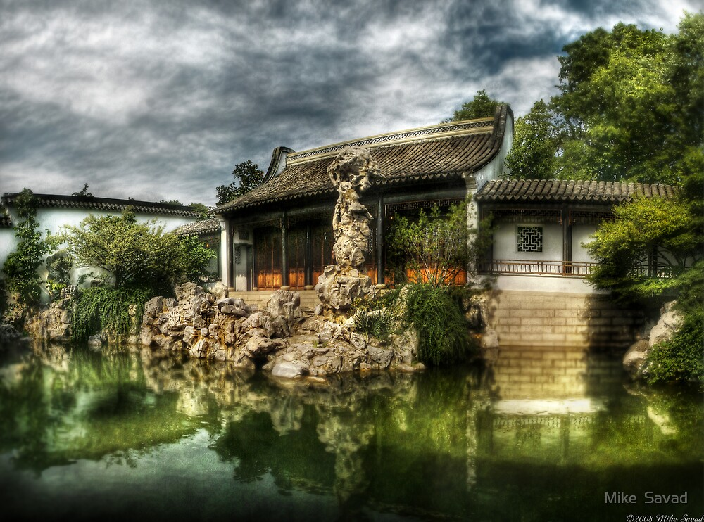 The Chinese Garden by Mike  Savad
