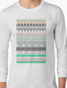 Tribal blue Long Sleeve T-Shirt