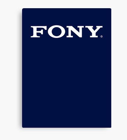 SONY/FONY Logo Parody (WHITE) Canvas Print