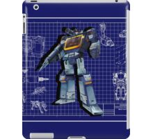 Masterpiece Soundwave Blueprint  iPad Case/Skin