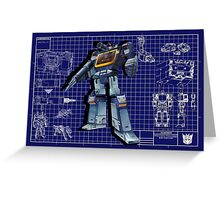 Masterpiece Soundwave Blueprint  Greeting Card
