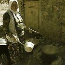 Turkish Village Woman Cooking by Josh Wentz