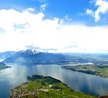 Lake Lucerne from Above by Jakob Lawman