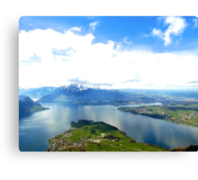 Lake Lucerne from Above Canvas Print
