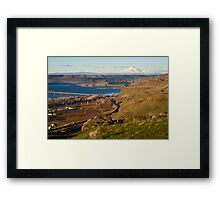 Mount Hood and the Columbia River Framed Print
