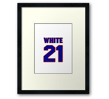 National baseball player Rick White jersey 21 Framed Print