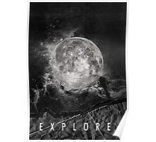Explore the Moon Poster