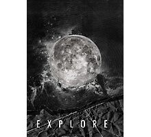 Explore the Moon Photographic Print