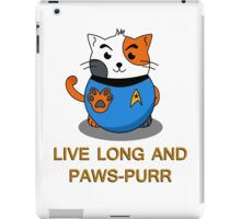 LIVE LONG AND PAWS-PURR iPad Case/Skin