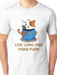 LIVE LONG AND PAWS-PURR Unisex T-Shirt