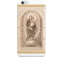 Our Lady of The Sacred Heart of Jesus iPhone Case/Skin