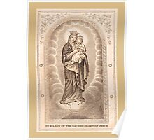 Our Lady of The Sacred Heart of Jesus Poster