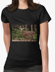 Buck White-tail Deer in the forest- Ottawa, Ontario Womens Fitted T-Shirt