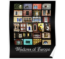Windows of Europe Poster