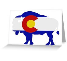 Colorado Buffalo Greeting Card