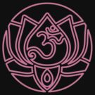 Lotus Om Yoga T-shirt by dropSoul