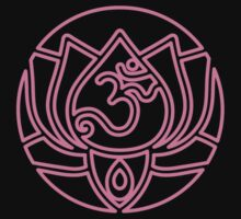 Lotus Om Yoga T-shirt T-Shirt