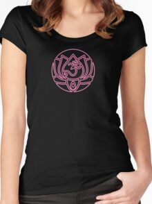 Lotus Om Yoga T-shirt Women's Fitted Scoop T-Shirt