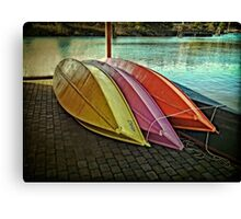 The Wooden Row Boats Canvas Print