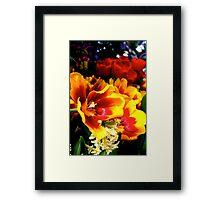 Tulips on Fire Framed Print