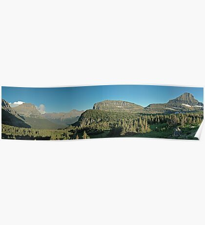 East from Logan Pass Poster