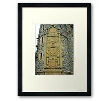 Carving Framed Print