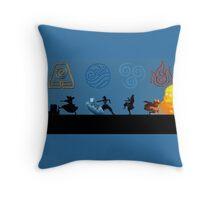 Avatar Four Reencarnations Throw Pillow