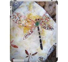 BEADED DRAGONFLY QUILT DETAIL iPad Case/Skin