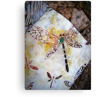 BEADED DRAGONFLY QUILT DETAIL Canvas Print