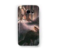 A Peculiar Moment Between Two Hunters Samsung Galaxy Case/Skin
