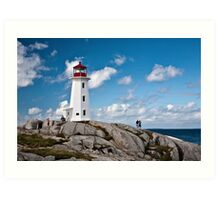 Peggy's Cove Light Art Print
