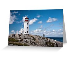 Peggy's Cove Light Greeting Card