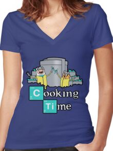 It's Cooking Time ... Women's Fitted V-Neck T-Shirt