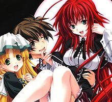 Highschool DxD - Rias Gremory, Asia Argento and Issei by ghoststorm