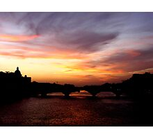Sunset on the Arno (Number 3) Photographic Print