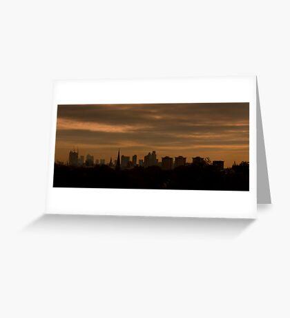 Sunrise Over London Greeting Card