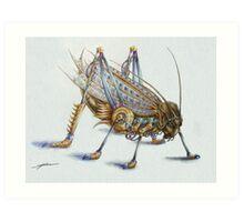 Metal Grasshopper Art Print