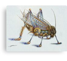 Metal Grasshopper Canvas Print