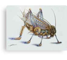 Metal Grasshopper Canvas Print