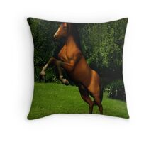 Equine Bliss Throw Pillow
