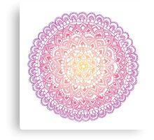 Sunset Mandala Canvas Print