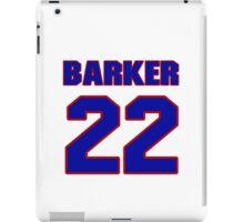 National baseball player Glen Barker jersey 22 iPad Case/Skin