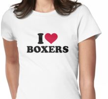 I love Boxers Womens Fitted T-Shirt