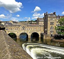 England - Covered Bridge in Bath by jezebel521