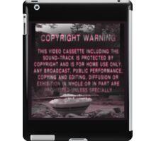 Copyright Warning iPad Case/Skin