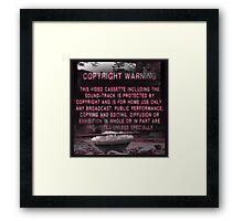 Copyright Warning Framed Print