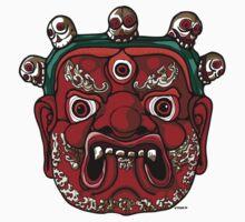 Tibetan Mahakala Mask by Vincent Poke