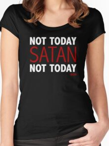 Bianca Del Rio - Not today, Satan Women's Fitted Scoop T-Shirt