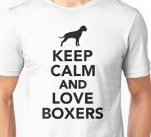 Keep calm and love Boxers Unisex T-Shirt